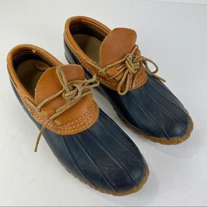 LL Bean Low  Ankle Mocs Boots Duck  Size 9